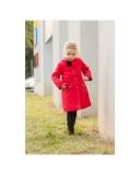 dievčenský flaušový zimný kabát ANGELA tmavosivý 430b5ff79a7