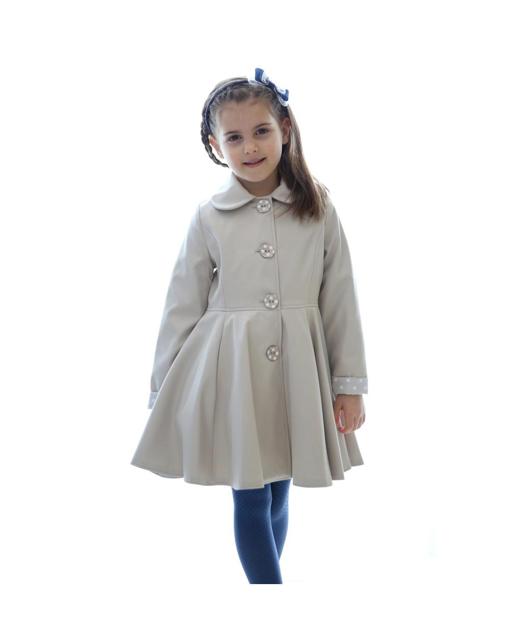 6e3334ca514b dievčenský jarný kabát POLLY tmavomodrý. skladom