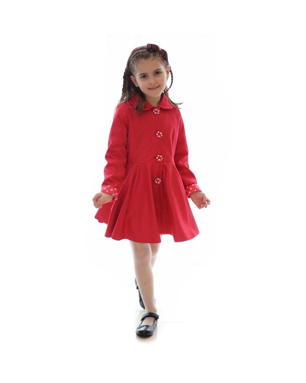 354182472cca dievčenský jarný kabát POLLY tmavomodrý. skladom