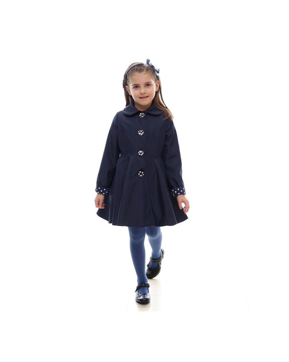dievčenský jarný kabát POLLY tmavomodrý. skladom fa3137f0736