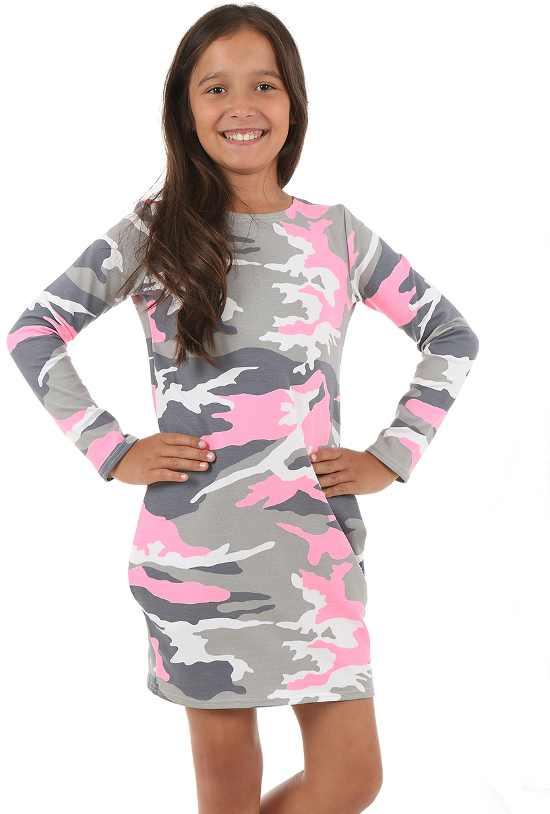 2dc94029bac3 dievčenské šaty s dlhým rukávom MORO ružové