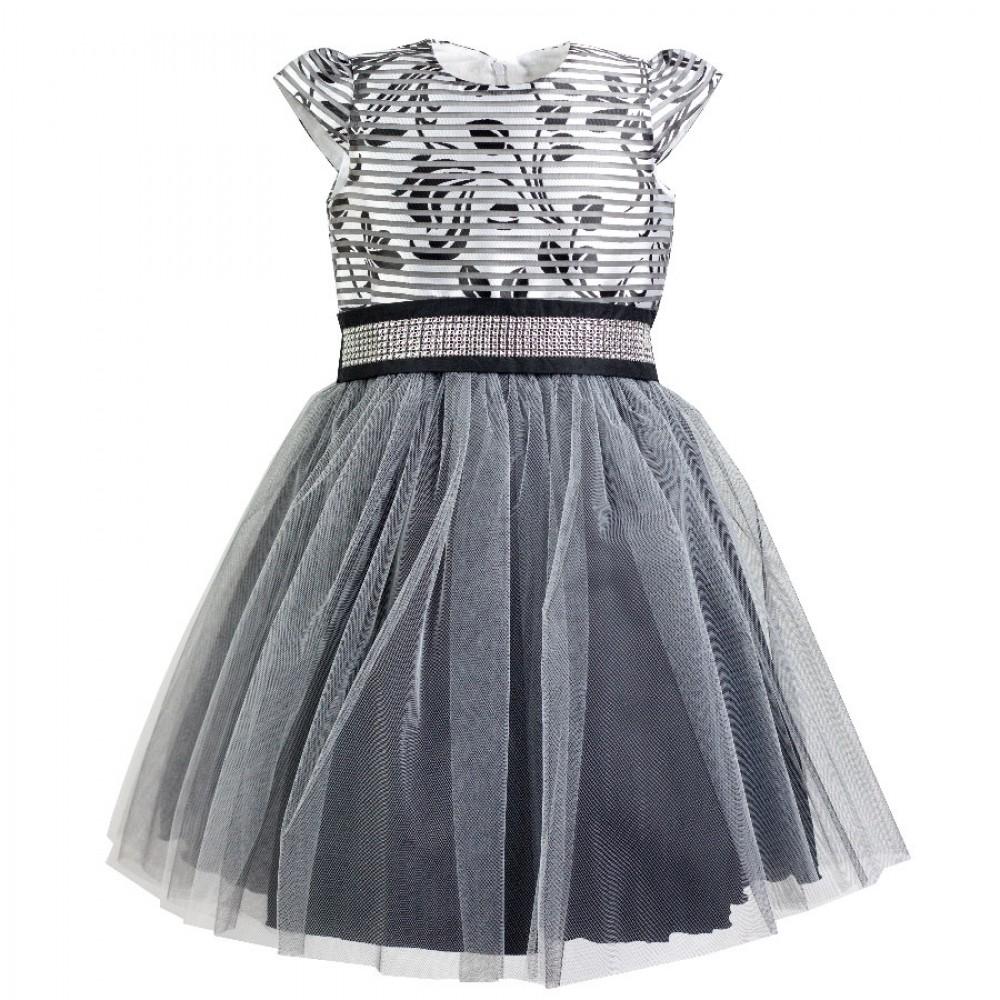 7227cd50d7c8 dievčenské sviatočné šaty EMMA. farba čierna strieborná
