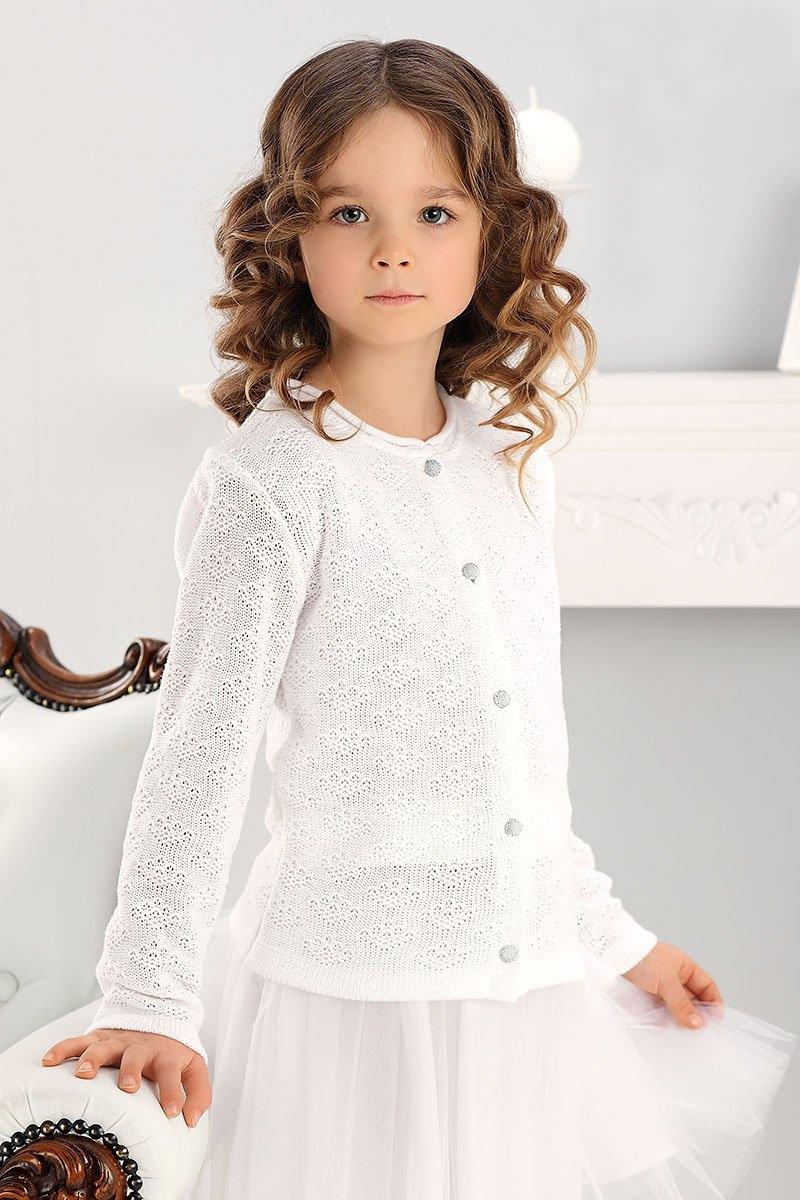 e0f3da0cccef dievčenský biely sveter so vzorom