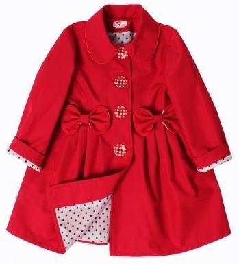 detský jarný kabátik STELLA červený 21102762af6