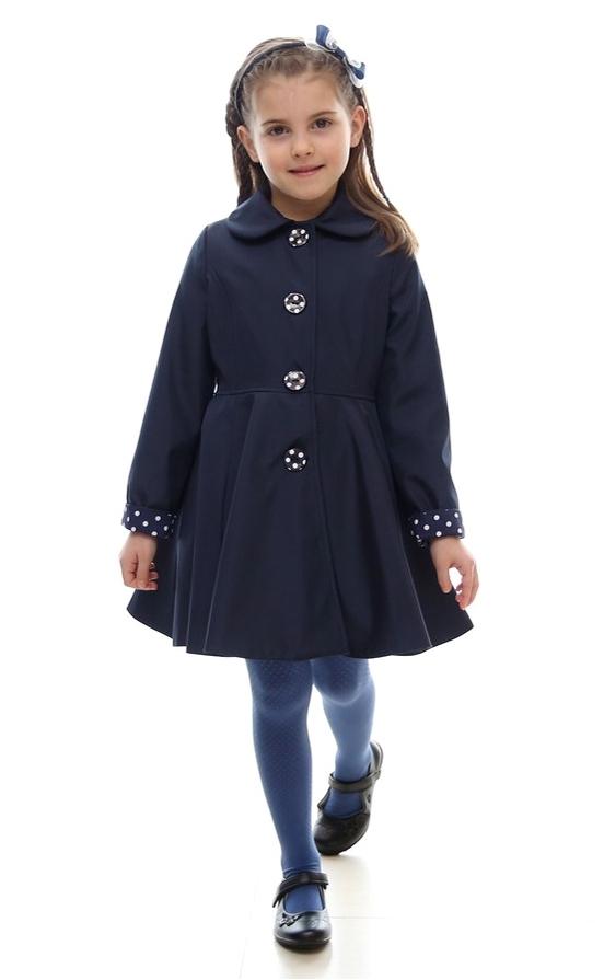 4755f34f36c2 dievčenský jarný kabát POLLY tmavomodrý