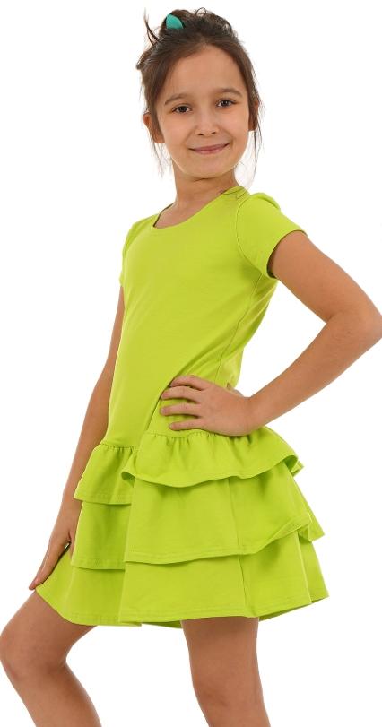 cc72e5e163cb letné bavlnené šaty s volánmi limetkové
