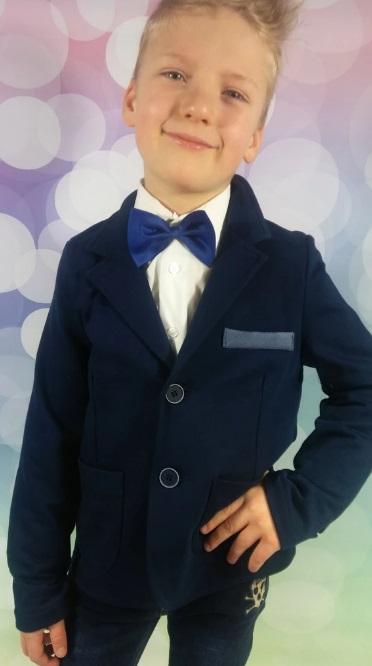 e6b3b5fe763d chlapčenské športové sako bavlnené modré