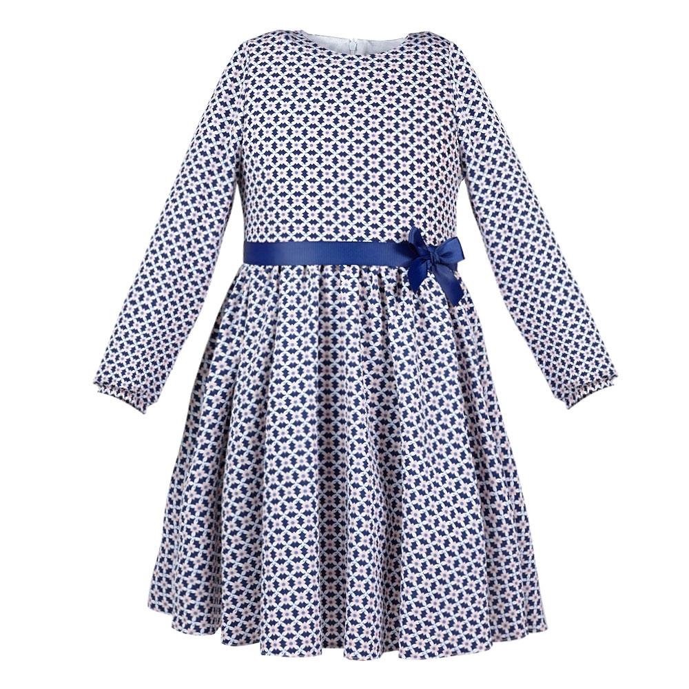52fabac3dda7 dievčenské šaty s dlhým rukávom KALINKA