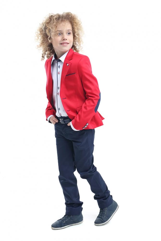 a8d75d816a39 Chlapčenské elegantné nohavice. farba modrá