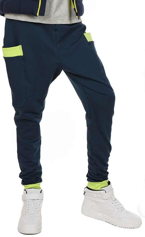 dfc9faaa4cb2 chlapčenské baggy nohavice. farba modrá-zelená