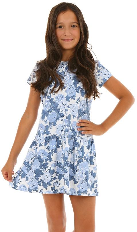 c67031cc8 dievčenské šaty kvetované modré