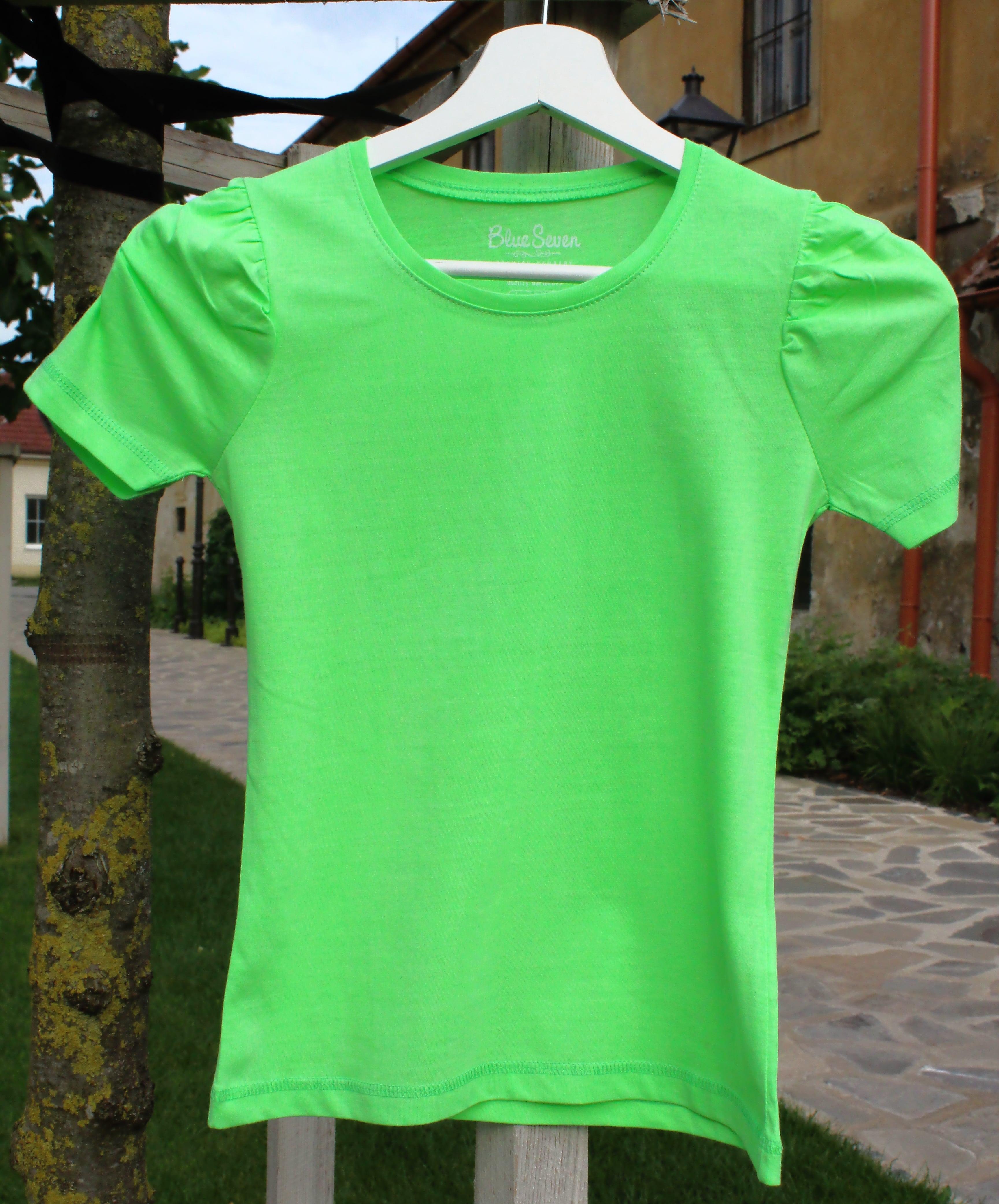 30fe0905c2e6 dievčenské tričko BLUE SEVEN zelené