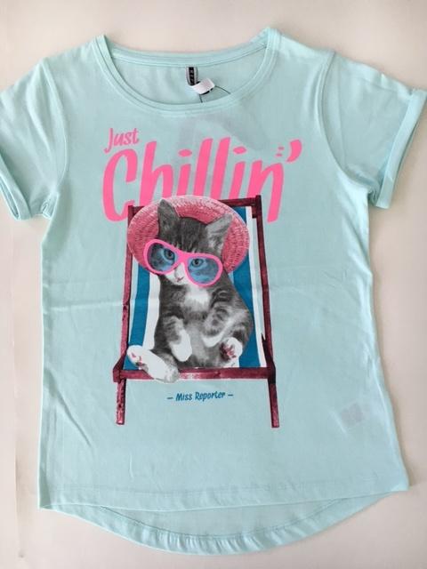 35895f0377a0 dievčenské tričko REPORTER YOUNG v mätovej farbe