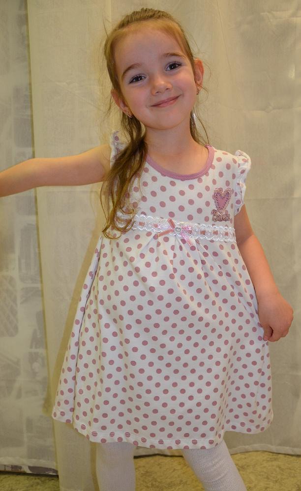 2e1389280d84 dievčenské šaty BREEZE GIRLS v bielej farbe s fialovými bodkami