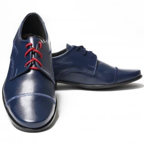 a557a473277d chlapčenské elegantné topánky modré hladké