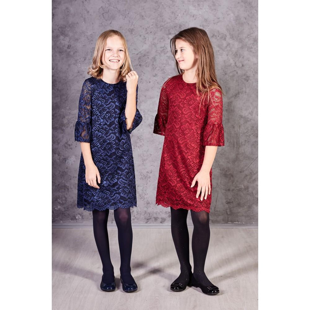 758d414fd220 dievčenské spoločenské šaty z krajky HARRIET bordové