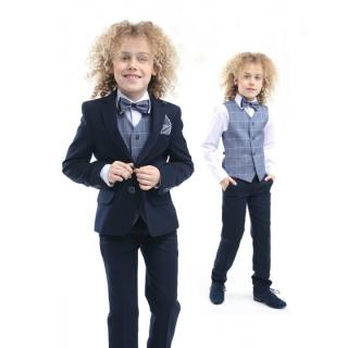 c24d44cf421d chlapčenský oblek PEDRO s vestou 122-152 empty