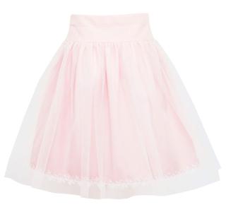 37295875d484 dievčenská sviatočná sukňa s tylom ružová empty