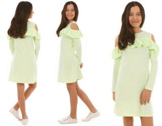ba95db645d00 dievčenské šaty s dlhým rukávom pistáciové empty