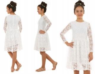 094e6052ce76 dievčenské čipkované šaty biele empty