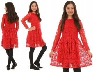 0e1a8c7d588d dievčenské čipkované šaty červené empty