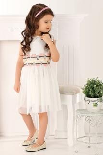 8ff471e8343e dievčenské romantické šaty smotanové empty