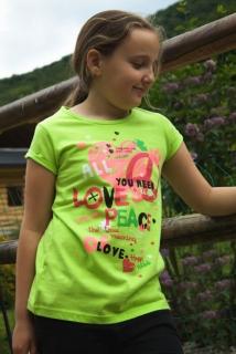 c05f29d0916f dievčenské tričko LOSAN v zelenej farbe empty