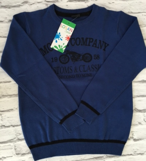 4186a0de43ea chlapčenský pulover LOSAN modrý empty