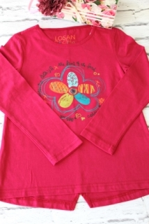 969f3b477193 dievčenské tričko LOSAN v tmavoružovej farbe velkosť 122 empty
