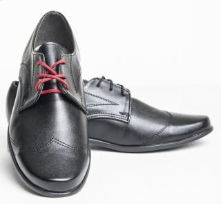 7d0045c3cd chlapčenské elegantné topánky čierne hladké empty