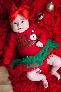 PETTI  BABY body so sukničkou Baby First Christmas
